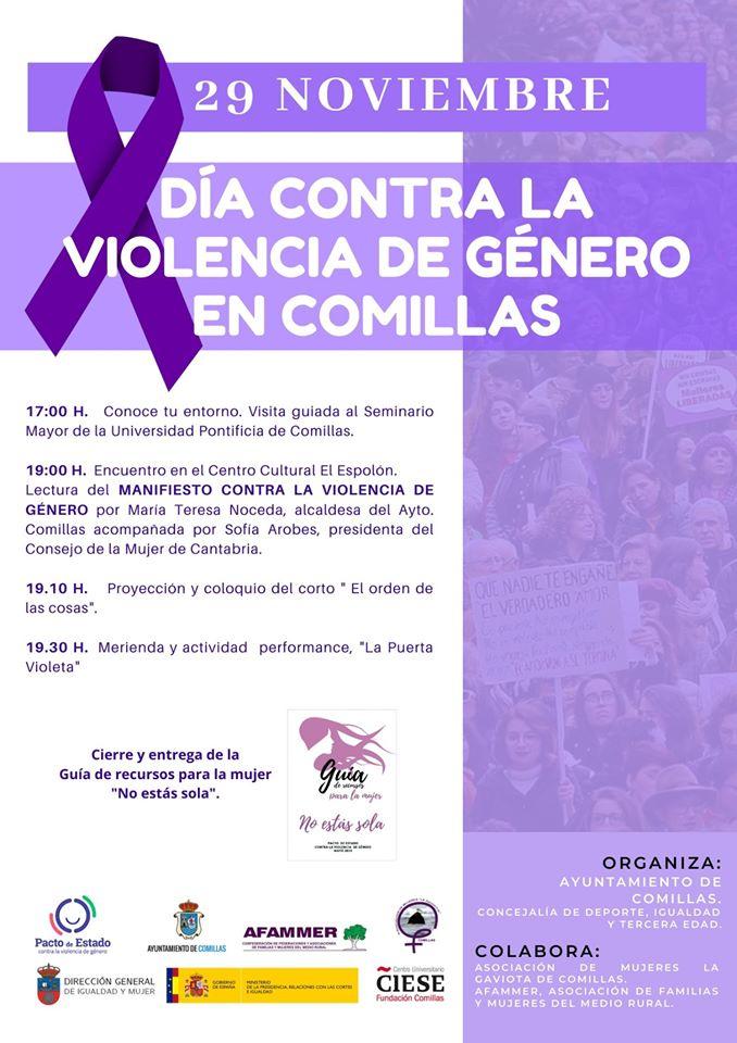 Día contra la violencia de género 2019 - Comillas (Cantabria)