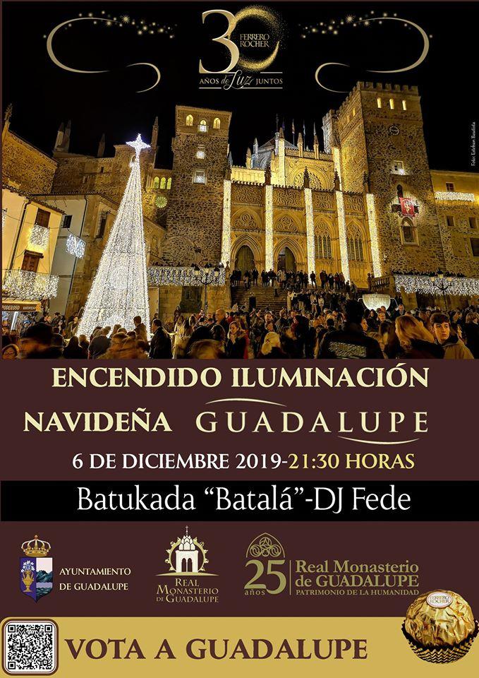 Encendido iluminación navideña 2019 - Guadalupe (Cáceres)