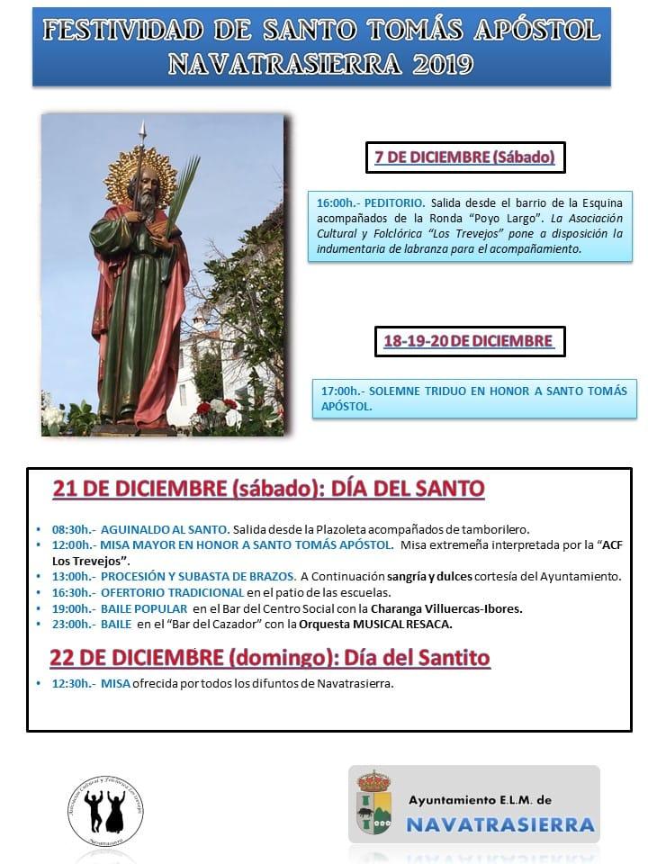 Festividad de Santo Tomás Apóstol 2019 - Navatrasierra (Cáceres)