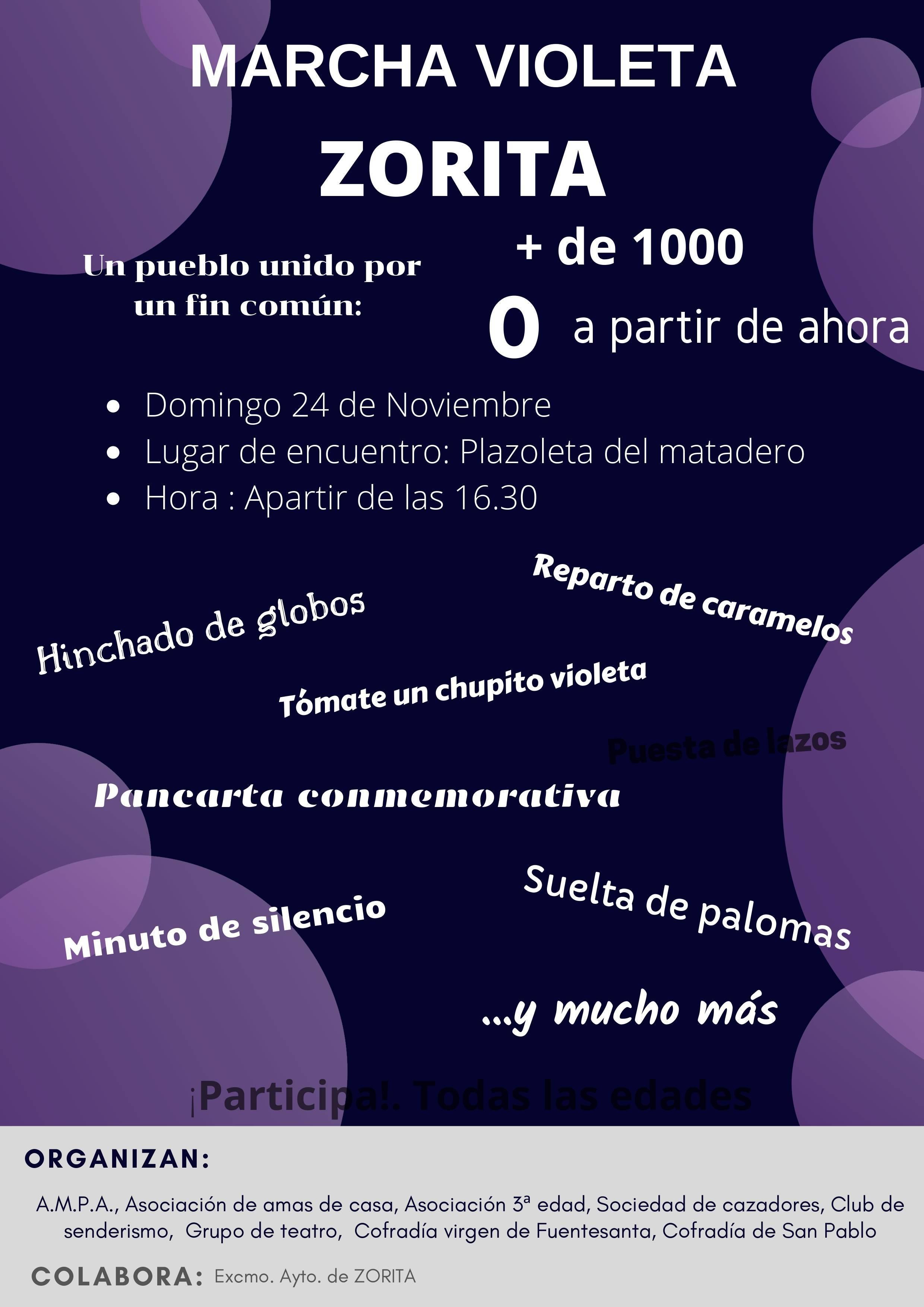 Marcha violeta 2019 - Zorita (Cáceres)