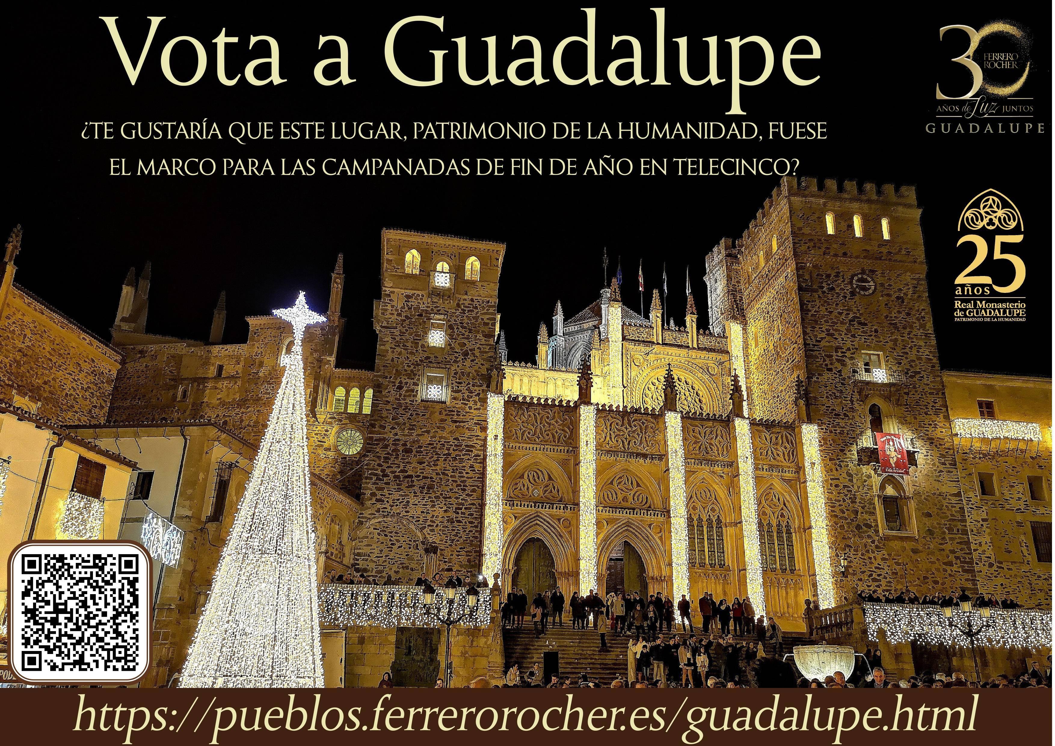 Telecinco podría dar en directo las campanadas de fin de año 2019 desde Guadalupe (Cáceres)