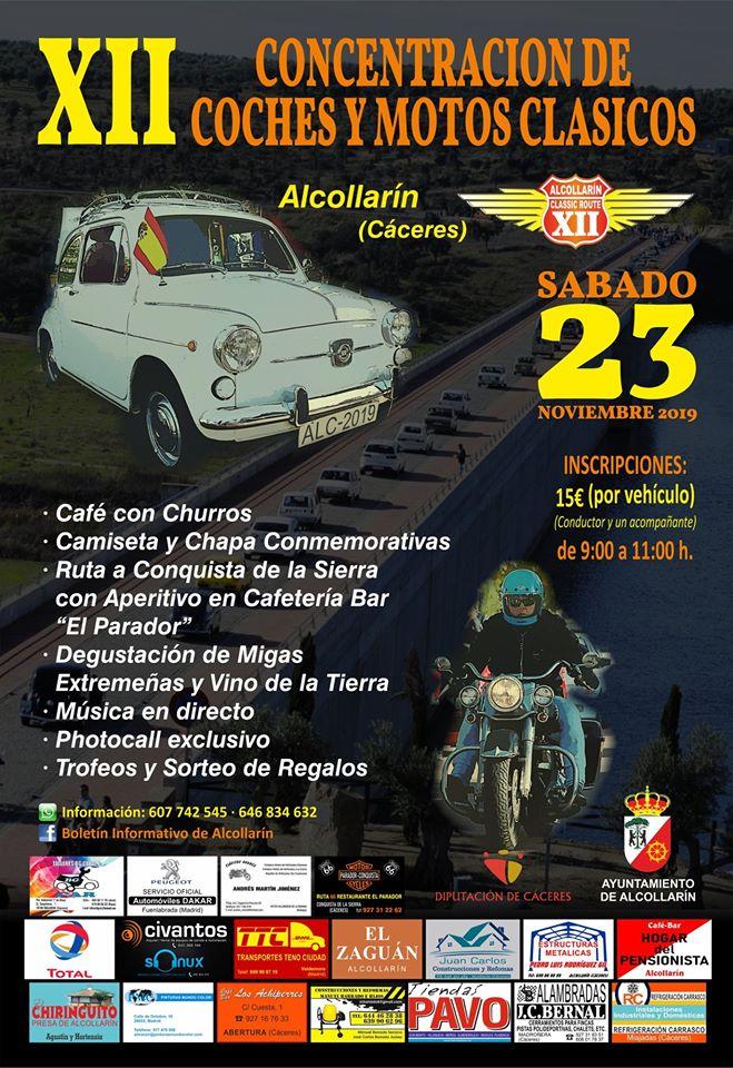 XII Concentración de coches y motos clásicos - Alcollarín (Cáceres) 1
