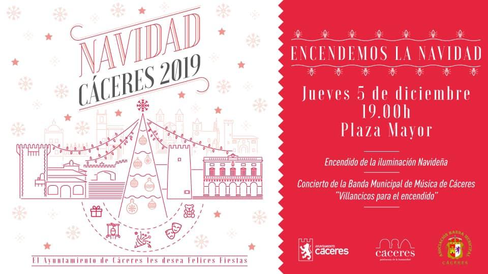 Encendido de la iluminación navideña 2019 - Cáceres