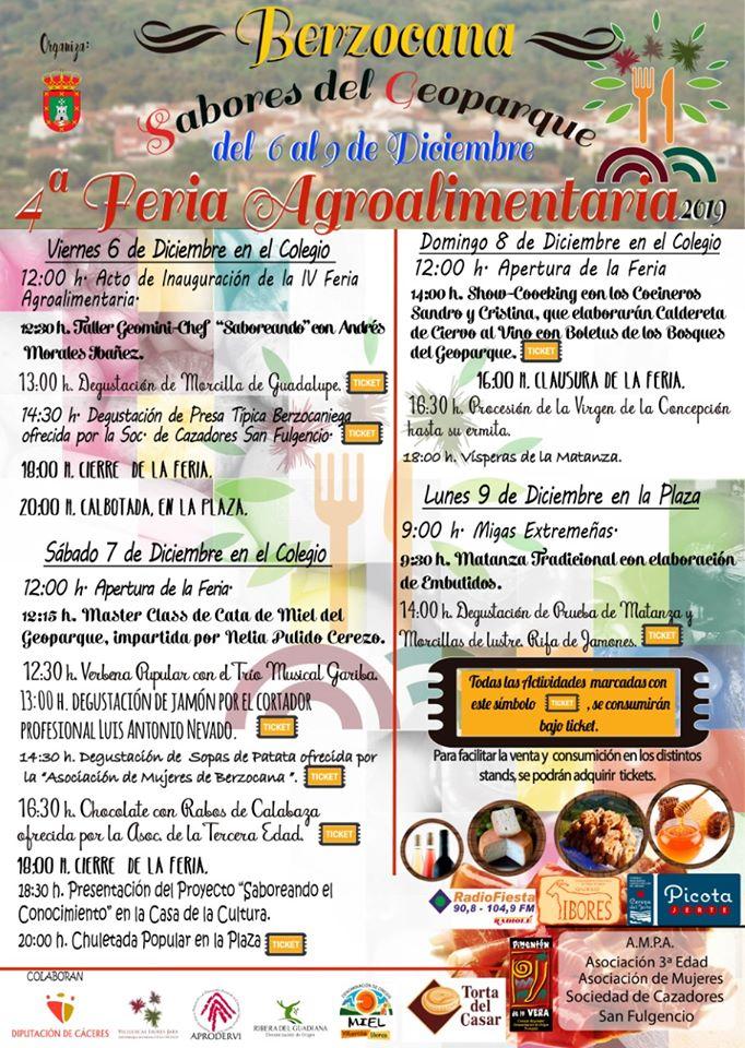 IV Feria agroalimentaria - Berzocana (Cáceres)