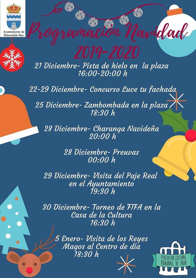 Programa de Navidad 2019-2020 - Bohonal de Ibor (Cáceres)