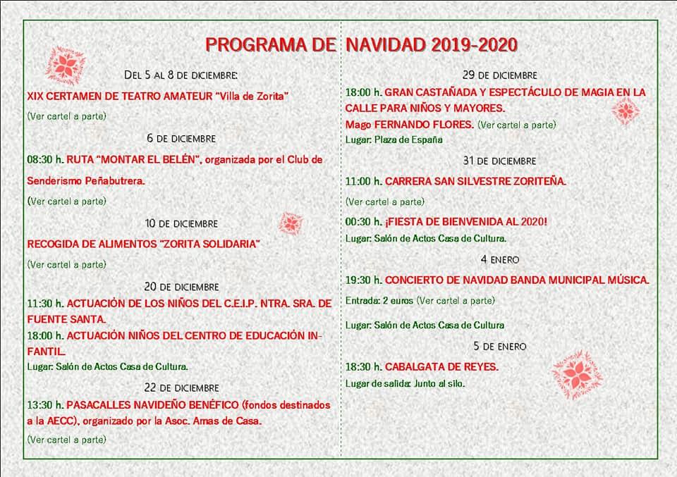 Programa de Navidad 2019-2020 - Zorita (Cáceres) 2