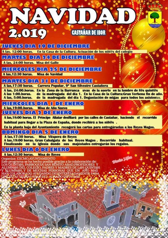 Programa de Navidad 2019 - Castañar de Ibor (Cáceres)