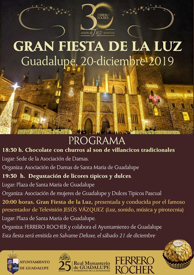 Programa de la Gran Fiesta de la Luz 2019 - Guadalupe (Cáceres)