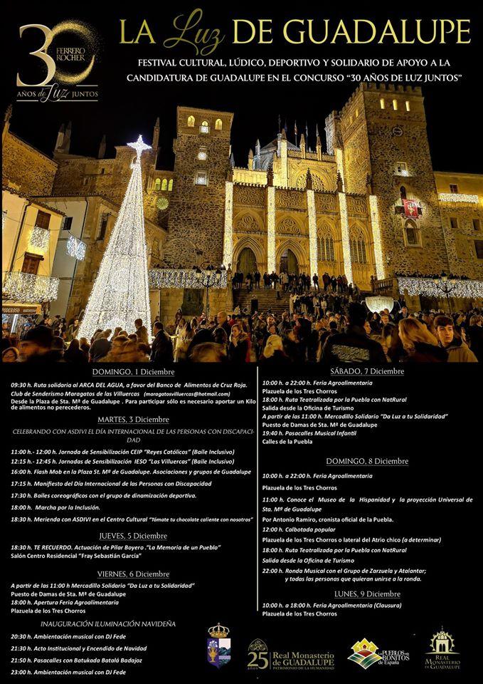 Programa de la luz de Guadalupe 2019 - Guadalupe (Cáceres)
