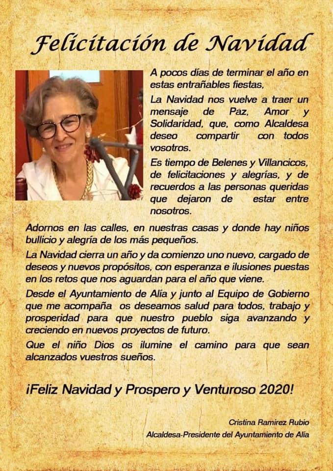 Programación de Navidad 2019-2020 - Alía (Cáceres) 2