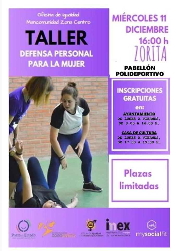 Taller de defensa personal para la mujer 2019 - Zorita (Cáceres)