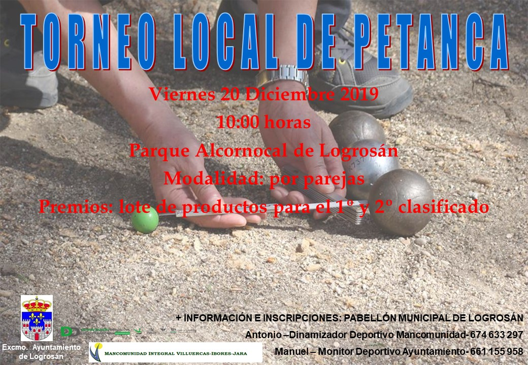 Torneo local de petanca 2019 - Logrosán (Cáceres)