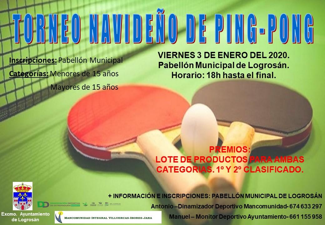 Torneo navideño de ping-pong 2020 - Logrosán (Cáceres)