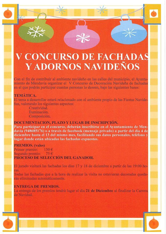 V Concurso de fachadas y adornos navideños - Mendavia (Navarra)