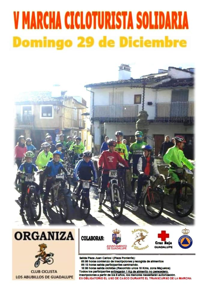 V Marcha cicloturista solidaria - Guadalupe (Cáceres)