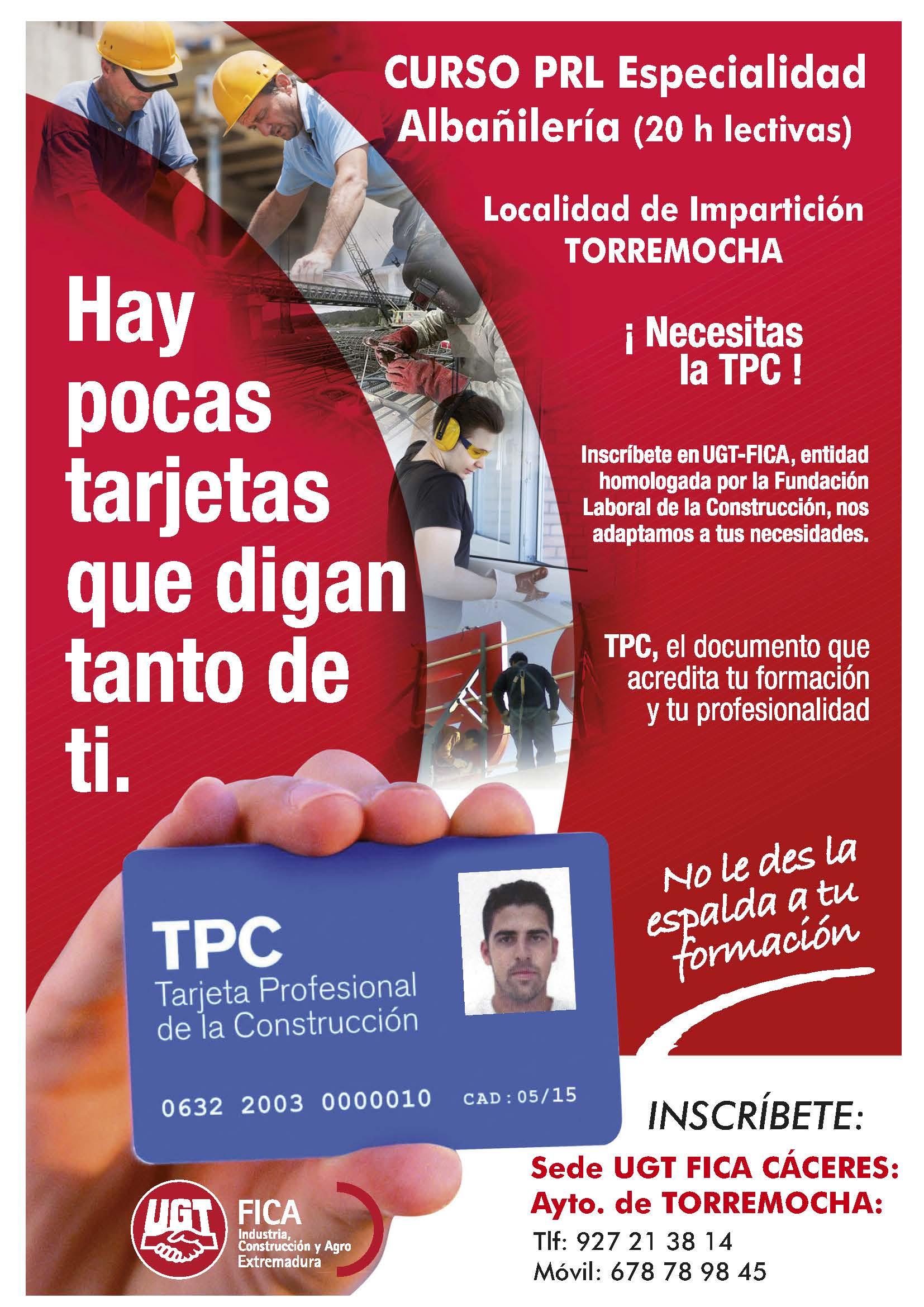 Curso PRL albañilería 2020 - Torremocha (Cáceres)