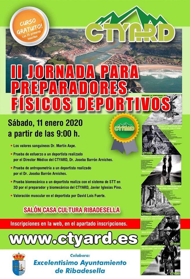Curso de II jornada para preparadores físicos deportivos - Ribadesella (Asturias)