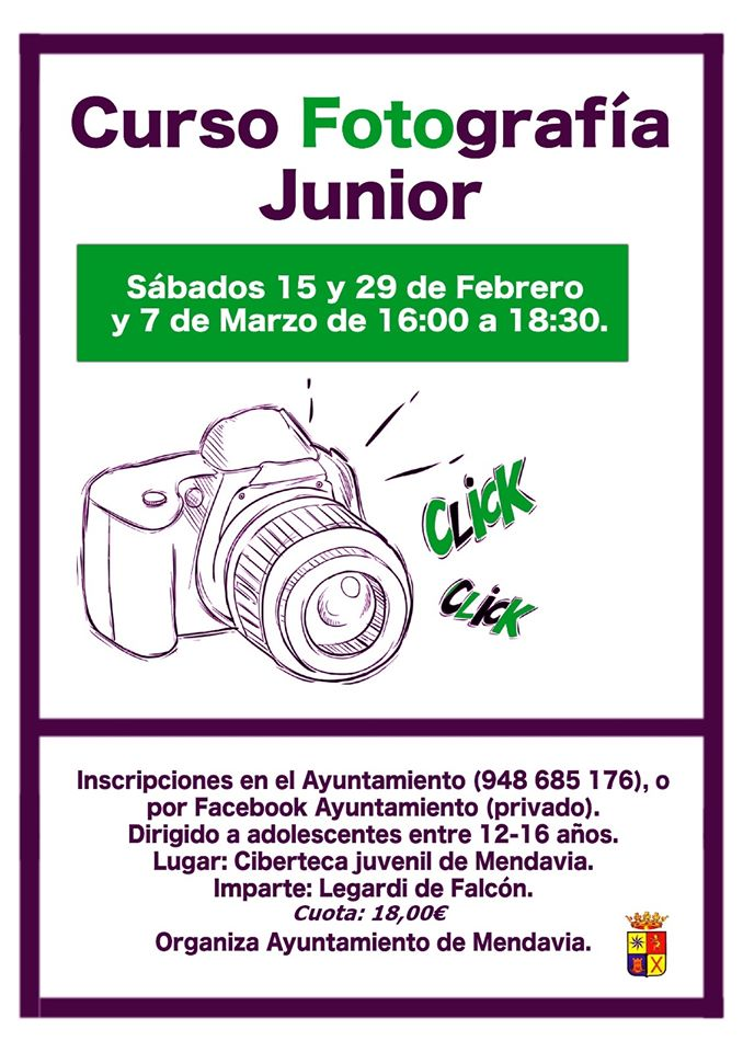 Curso de fotografía junior 2020 - Mendavia (Navarra)