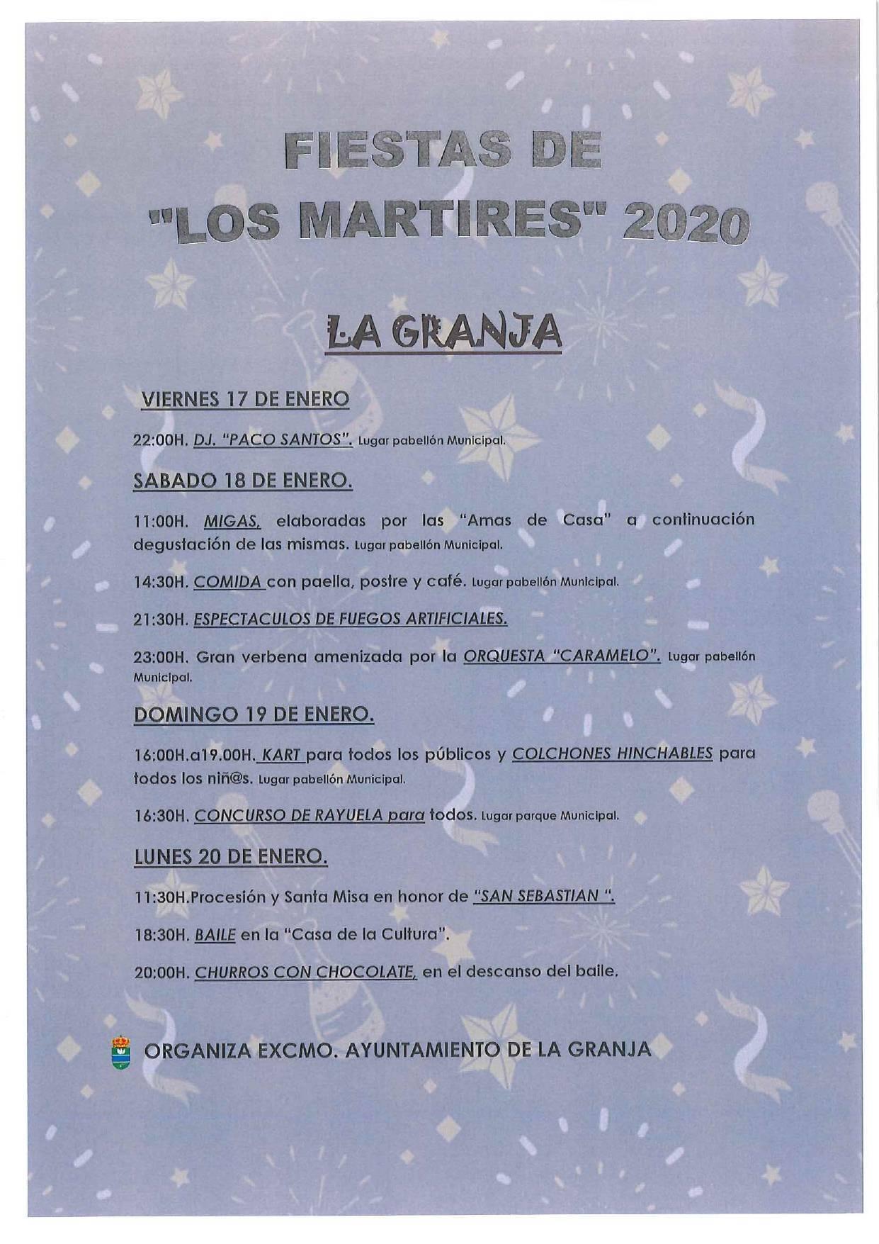 Fiestas de Los Mártires 2020 - La Granja (Cáceres)