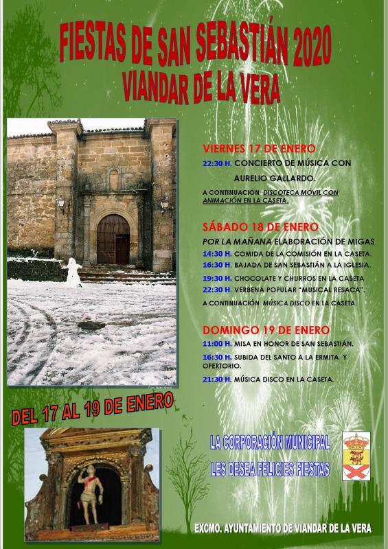 Fiestas de San Sebastián 2020 - Viandar de la Vera (Cáceres)