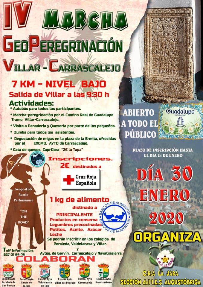 IV Marcha geoperegrinación - Villar del Pedroso (Cáceres), Carrascalejo (Cáceres)
