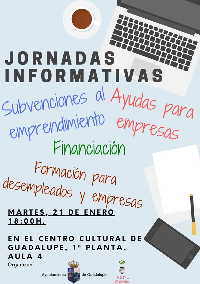 Jornadas informativas para empresas y emprendedores enero 2020 - Guadalupe (Cáceres)