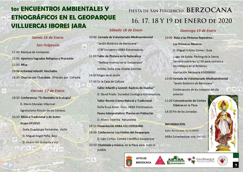 Primeros encuentros ambientales y etnográficos en el Geoparque Villuercas Ibores Jara - Berzocana (Cáceres)