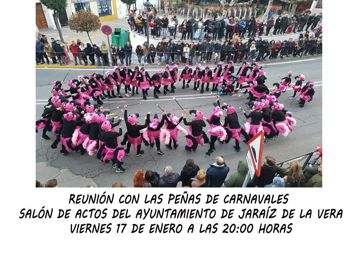 Reunión con las peñas de Carnavales 2020 - Jaraíz de la Vera (Cáceres)