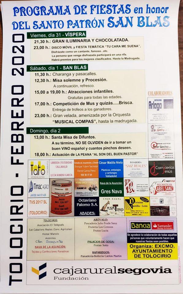 San Blas 2020 - Tolocirio (Segovia)