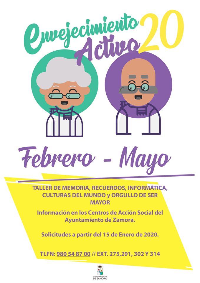 Taller de envejecimiento activo 2020 - Zamora