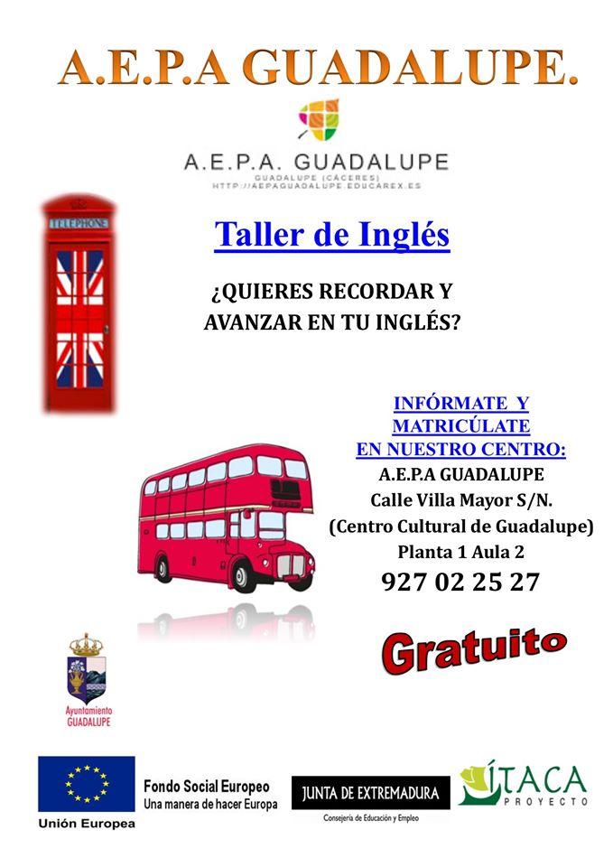 Taller de inglés 2020 - Guadalupe (Cáceres)