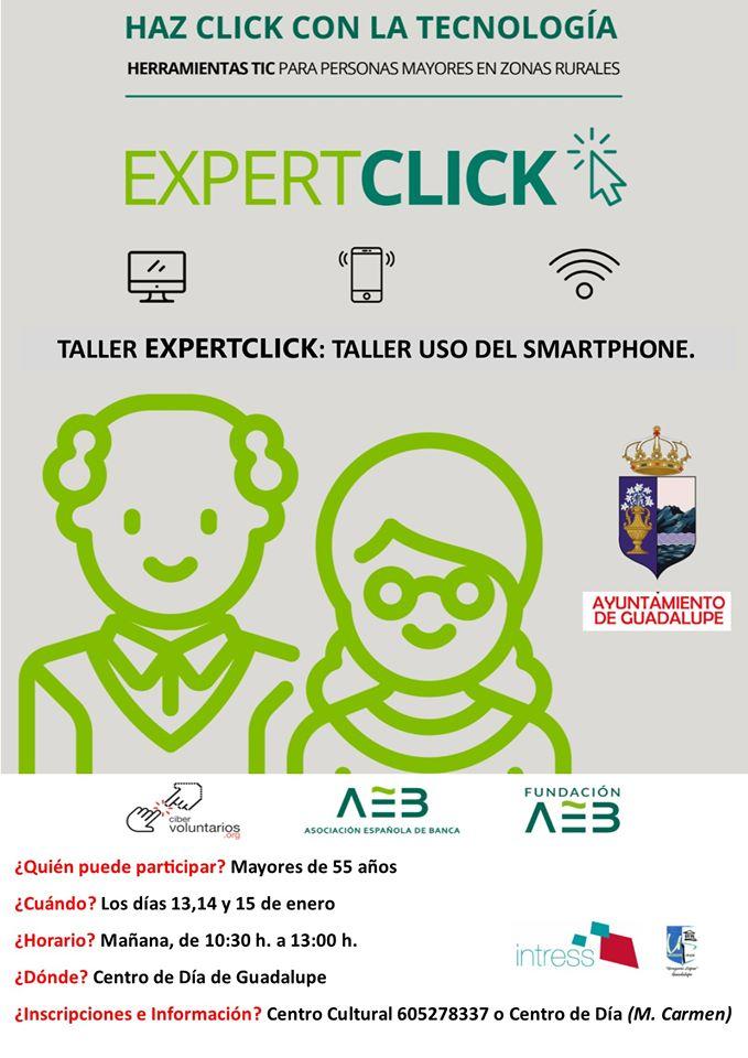 Taller de uso del smartphone enero 2020 - Guadalupe (Cáceres)