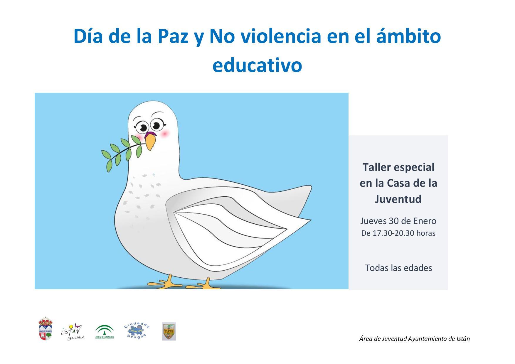 Taller del Día de la Paz y No violencia en el ámbito educativo 2020 - Istán (Málaga)