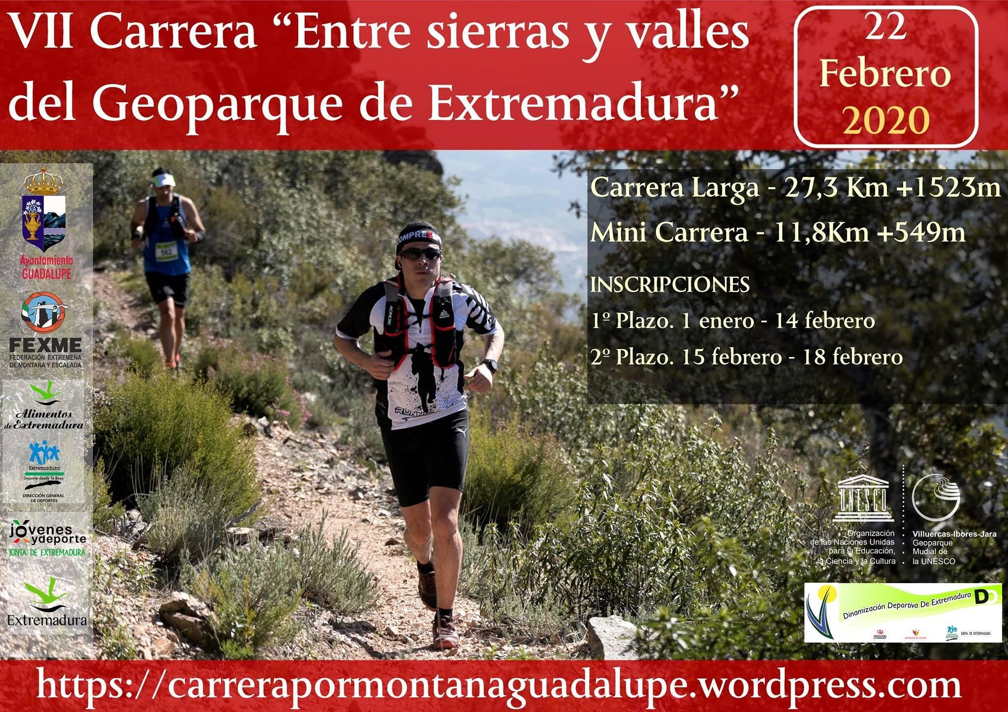 VII Carrera Entre sierras y valles del Geoparque de Extremadura - Guadalupe (Cáceres)