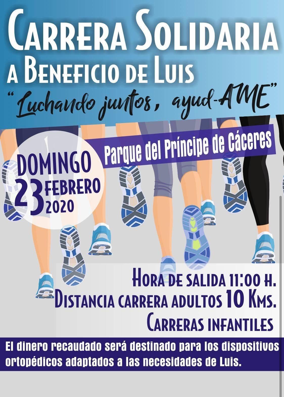 Carrera solidaria a beneficio de Luis 2020 - Cáceres