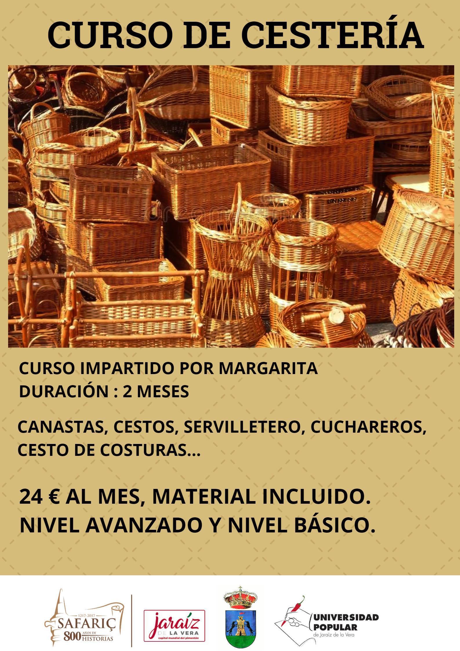 Curso de cestería 2020 - Jaraíz de la Vera (Cáceres)