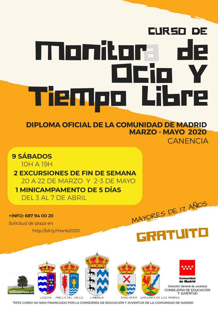 Curso de monitor de ocio y tiempo libre 2020 - Canencia (Madrid)