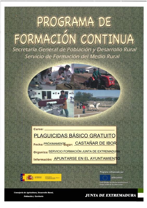 Curso de plaguicidas 2020 - Castañar de Ibor (Cáceres)