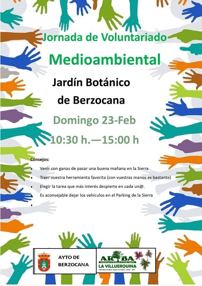 Jornada de voluntariado medioambiental 2020 - Berzocana (Cáceres)