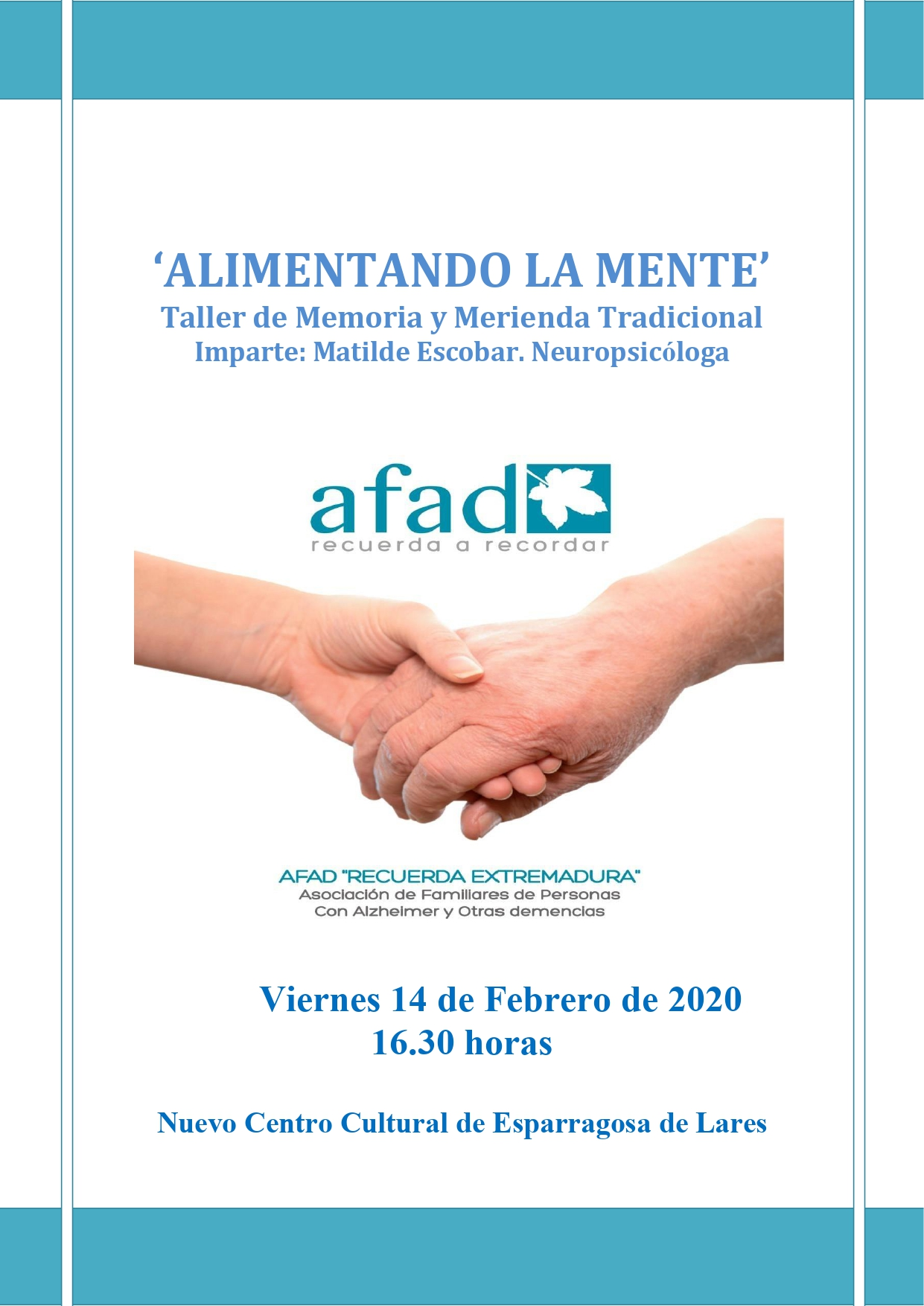 Taller de alimentando la mente 2020 - Esparragosa de Lares (Badajoz)