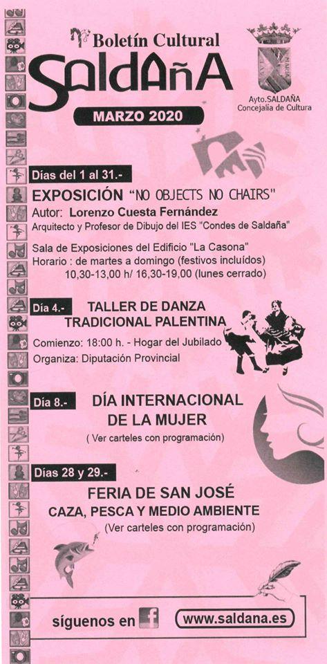 Boletín cultural marzo 2020 - Saldaña (Palencia) 1