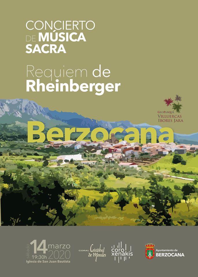 Concierto de música sacra marzo 2020 - Berzocana (Cáceres)