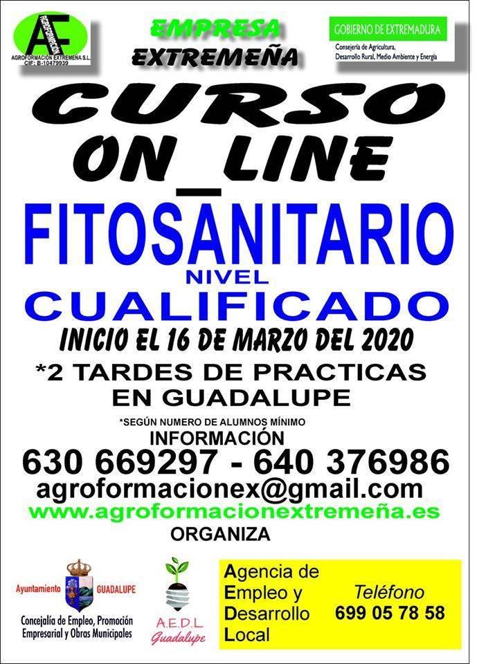 Curso de fitosanitario 2020 - Guadalupe (Cáceres)