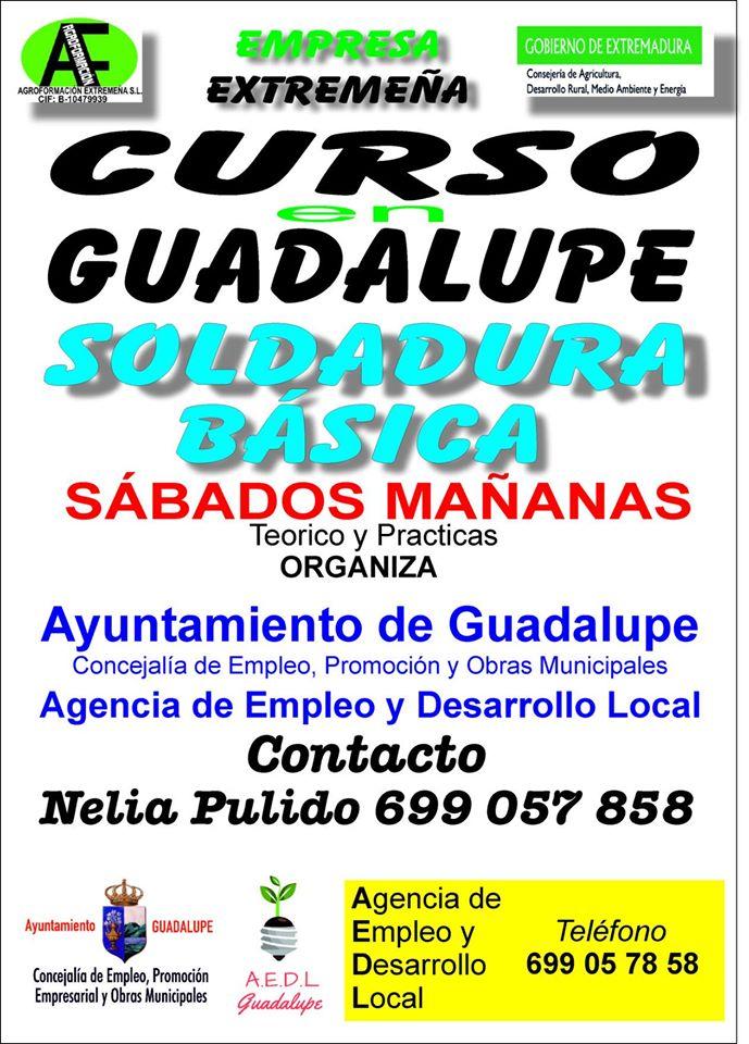 Curso de soldadura básica 2020 - Guadalupe (Cáceres)