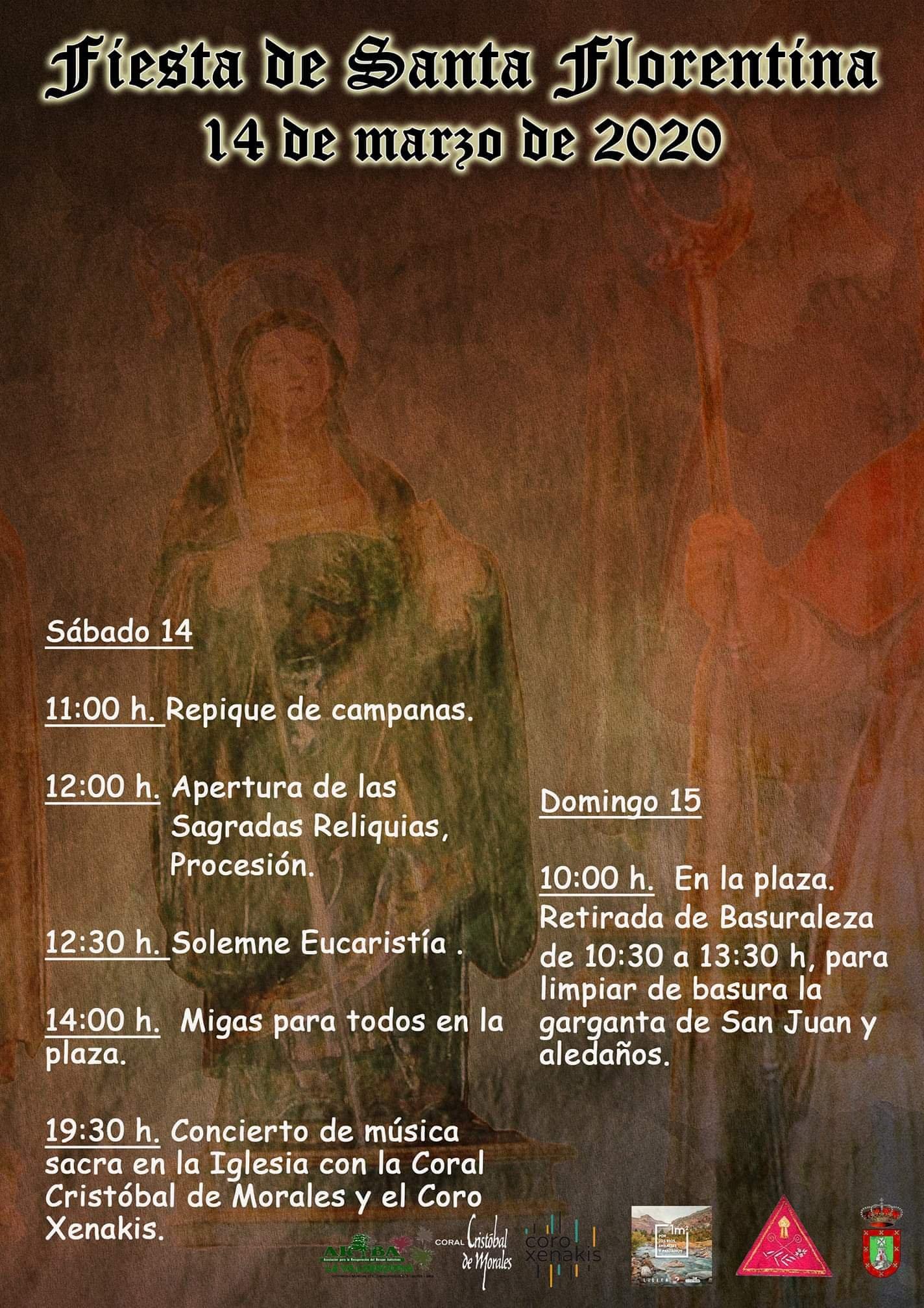 Fiesta de Santa Florentina 2020 - Berzocana (Cáceres)