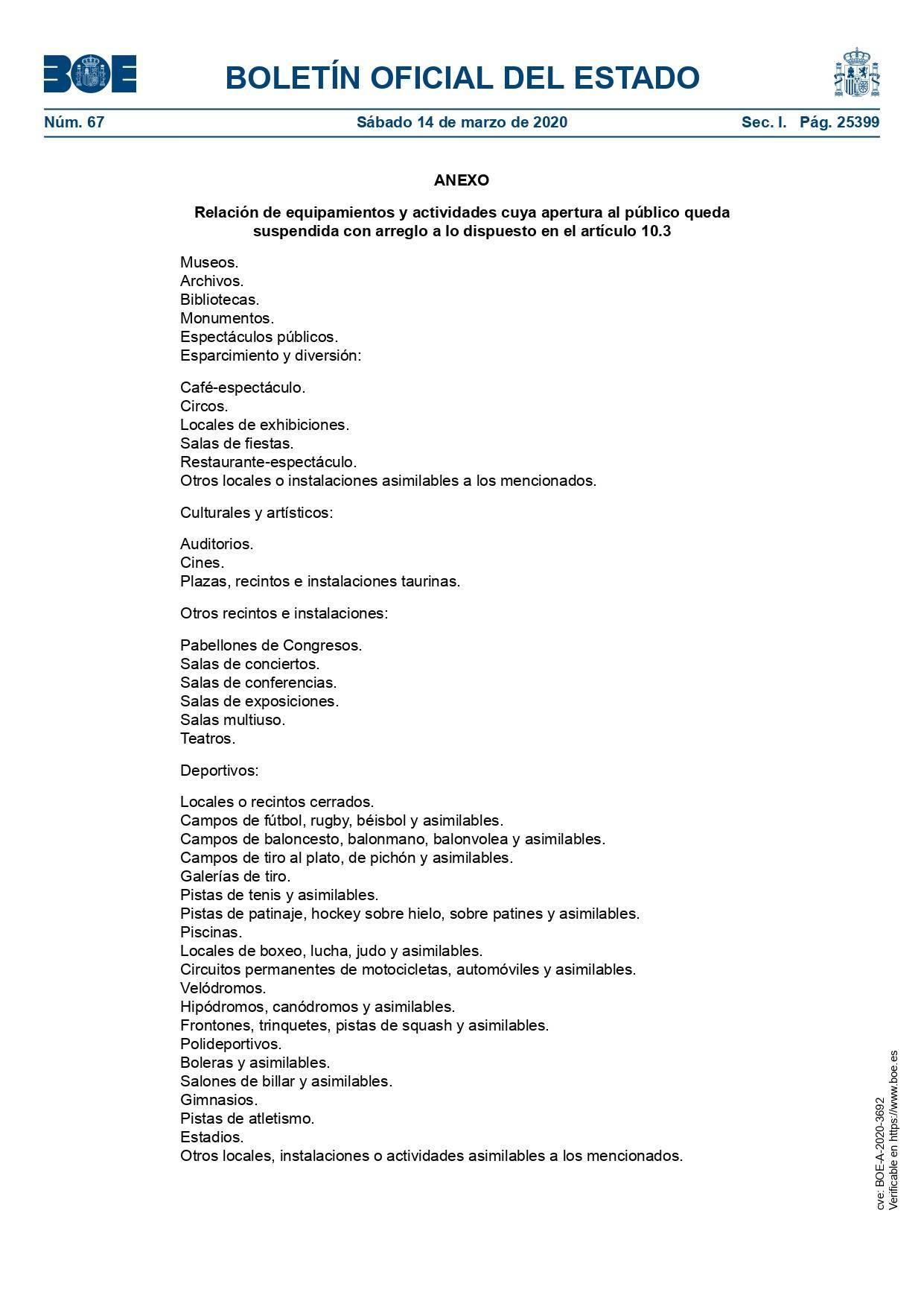 Medidas estado de alarma por el coronavirus 2020 10