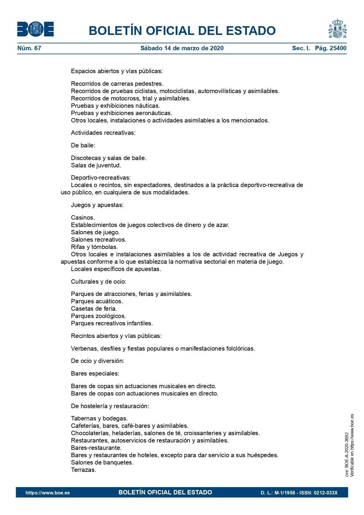 Medidas estado de alarma por el coronavirus 2020 11
