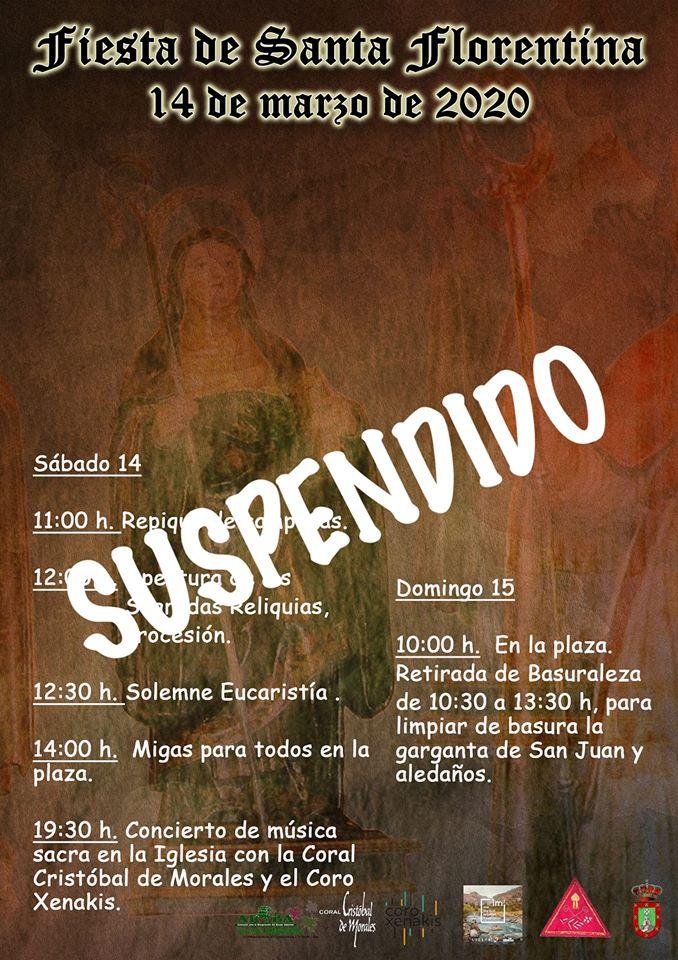 Se suspende Santa Florentina 2020 - Berzocana (Cáceres)