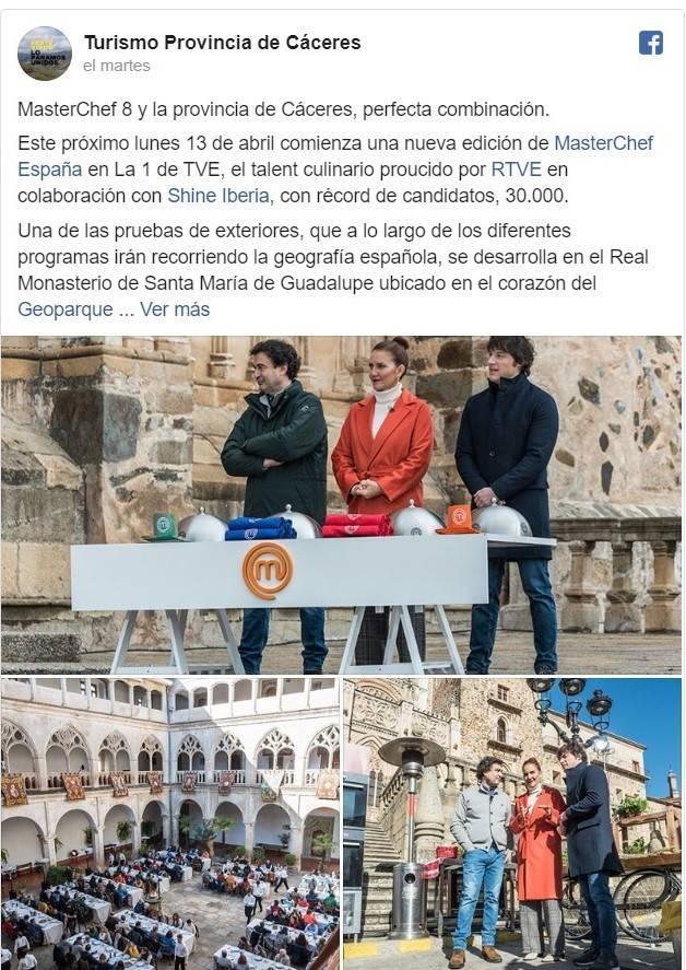 Comienza MasterChef 8 y una de las pruebas fue rodada en Guadalupe (Cáceres)