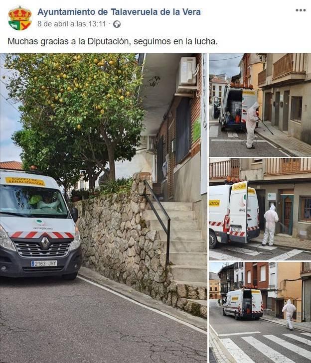 Desinfección en Talaveruela de la Vera (Cáceres) por el coronavirus 2020